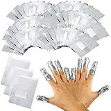 100x Nail Art Soak Off polaco–Gel para eliminar acrílico Lámina De Eliminación De Shellac Wraps