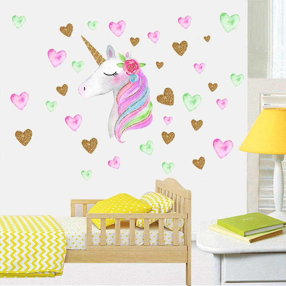 Vinilo Decorativo Pared [7q2sy1hm] Unicornio