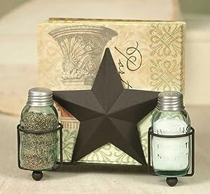 Star Salt Pepper and Napkin Caddy
