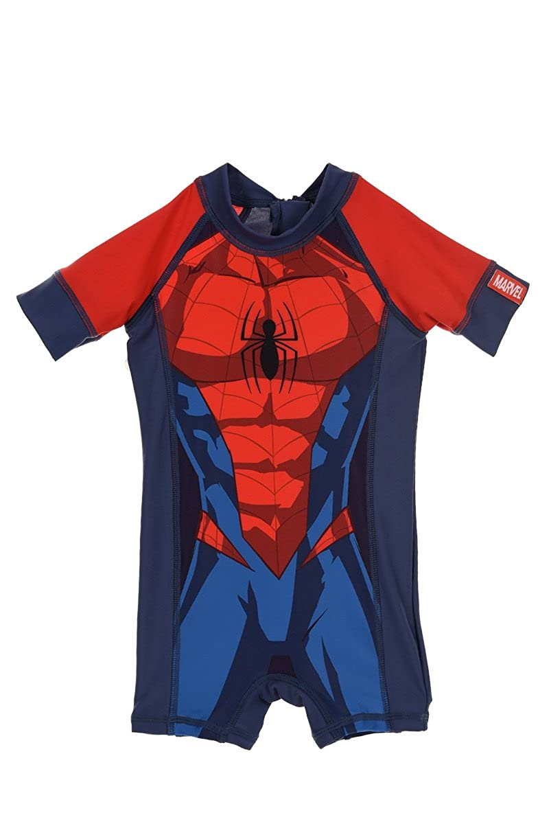 Marvel Spiderman Official Boys Swimsuit Swimming Costume One Piece 1-5 Years New 2018