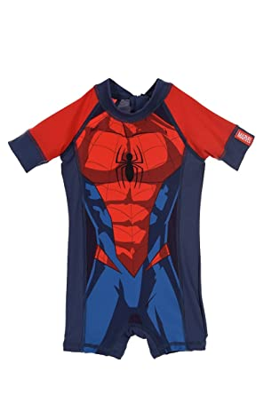 a0be0a9993104 Marvel Spiderman Official Boys Swimsuit Swimming Costume One Piece - 2  Years  Amazon.co.uk  Clothing