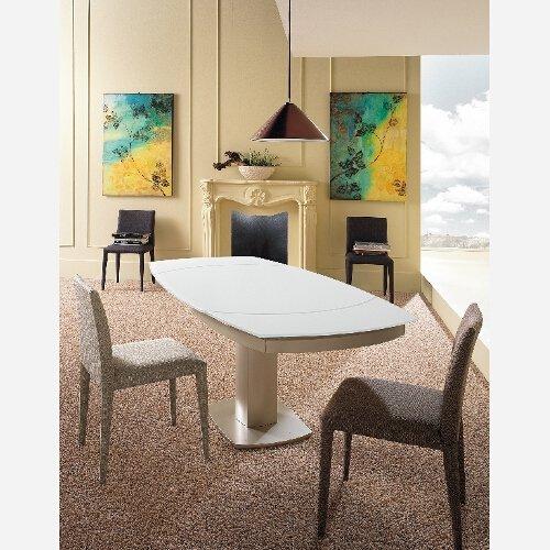 Mesa Cristal Cocina Sala de Comedor Barnizado níquel Extensible ...