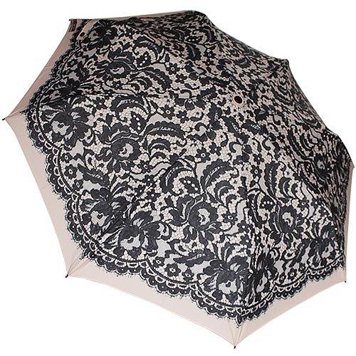 Moschino - Paraguas, diseño estampado floral, color crudo