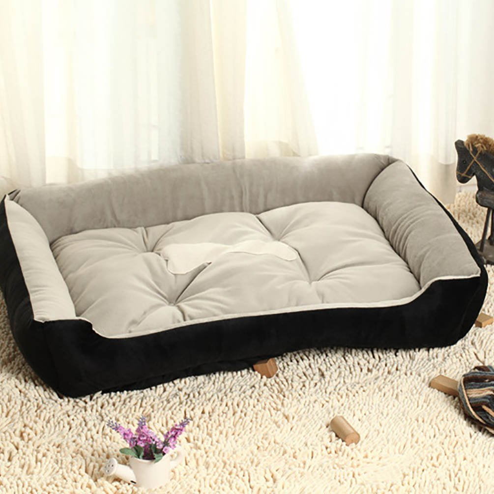 YOUJIA Cama Para Mascota Suave Doggy Doghouse Cojín Basket de Mascotas Perros (Negro, XL): Amazon.es: Hogar