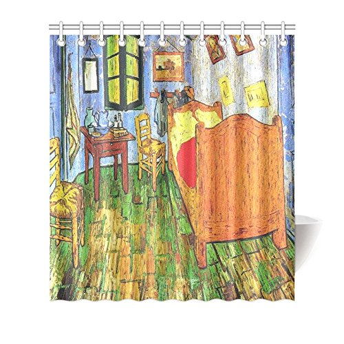 Vincent Van Gogh Painting Bedroom Waterproof Bathroom decor Fabric Shower Curtain Polyester Fabric 66 x 72 ()