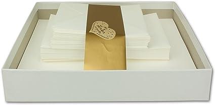 Carta láser, Juego de texto 120 piezas) en caja blanca | Sobres ...