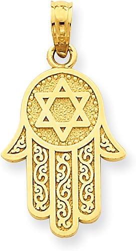 Lex /& lu 14k or jaune avec rhodium Assis Chat dans un pendentif en forme de cœur