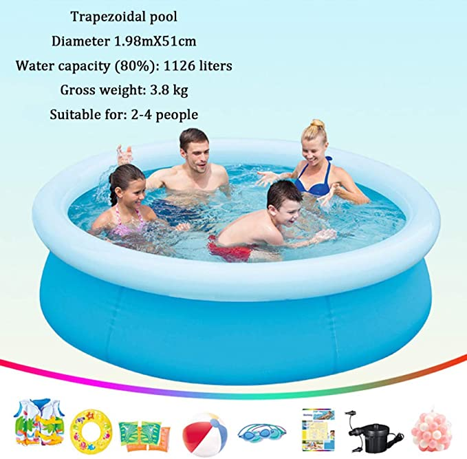 DSFGHE Piscina Hinchable Fast Set con Anillo Hinchable,Piscina ...