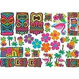"Amscan Hawaiian Summer Luau Party Assorted Cutouts Wall Decoration (30 Piece), Multi Color, 14.5 x 12.5"""