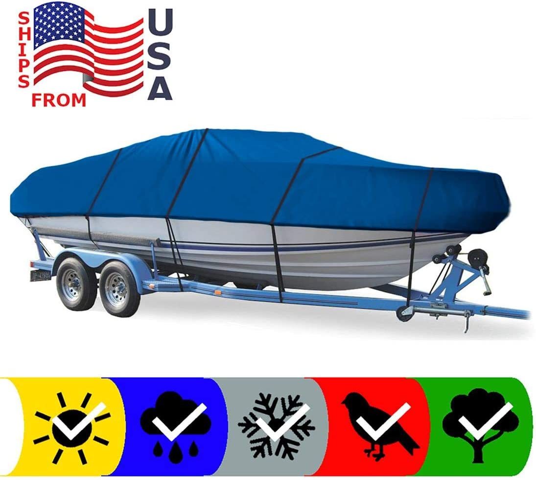 SBU Blue Boat Cover for Four Winns Boats 19 Admiral 1976, Travel Storage Mooring