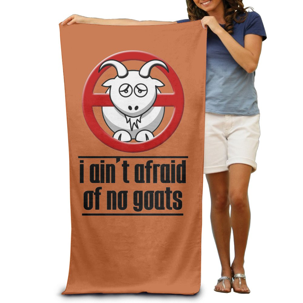 I Ain't Afraid Of No Goats Men's Beach Towel, Pool Towel ,Sport Towel,Thick, Soft, Quick Dry, Lightweight, Absorbent SciuQssf