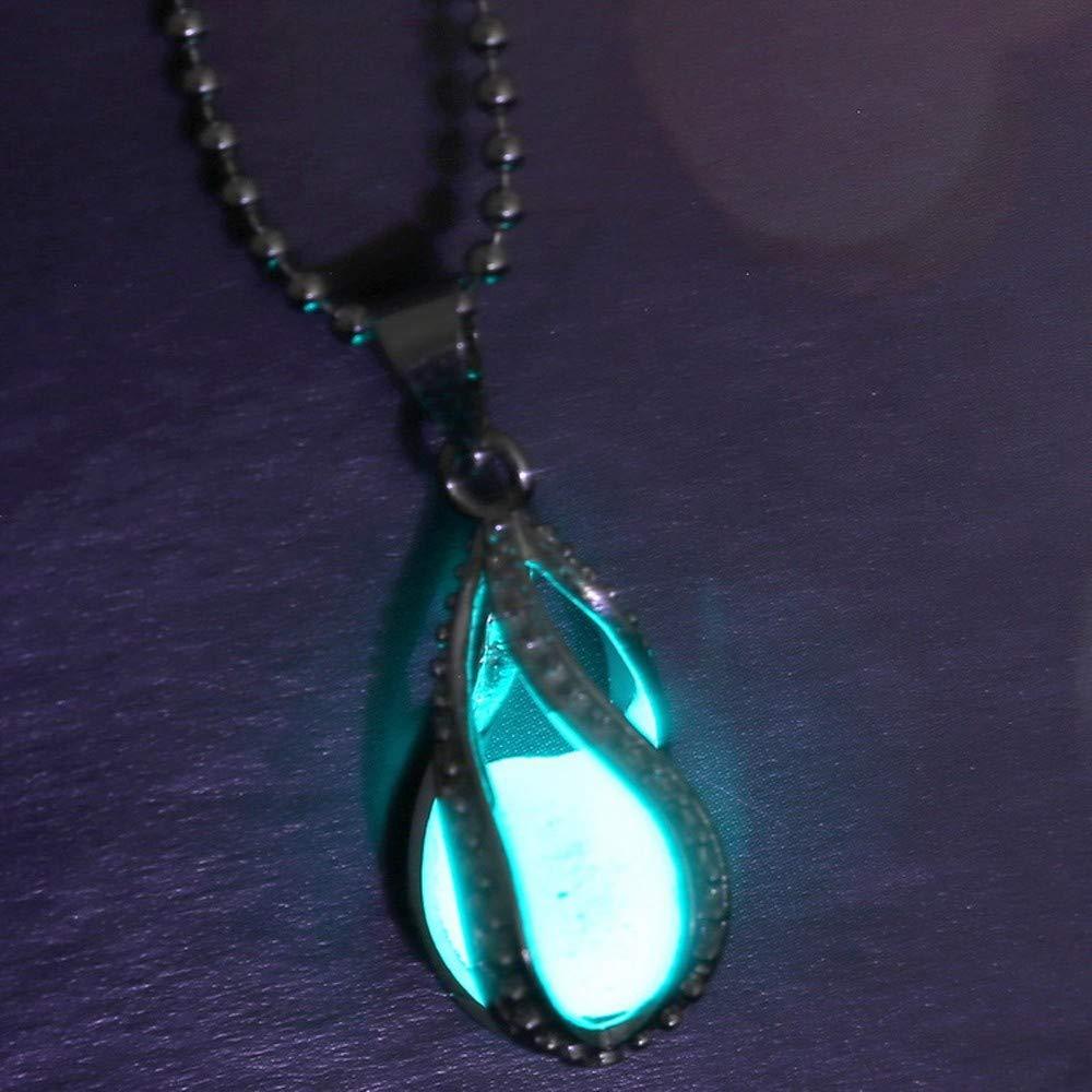 Amazon.com  Wenini Women Glow in Dark Pendant Luminous Necklace ... 1e9433afbd24