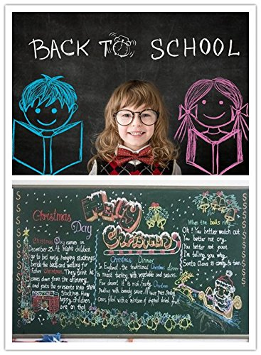 Premium Chalkboard E Non Toxic WHITE Dustless Chalk 12 Ct Box /& Colored Bundle