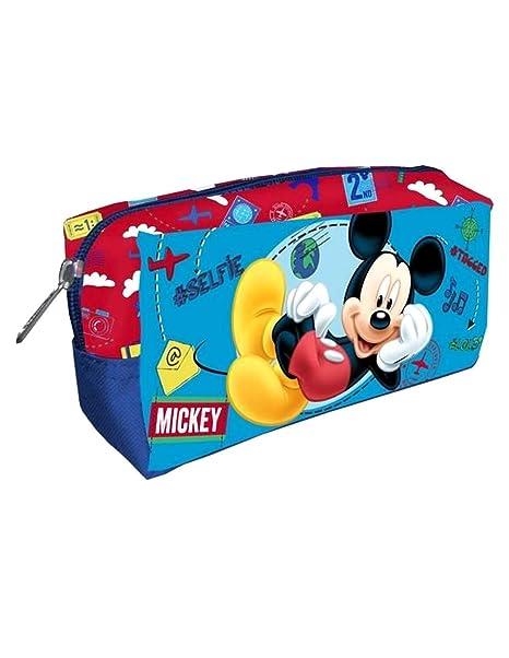 Mickey Mouse - Bolsa de aseo Niños azul Talla única: Amazon ...