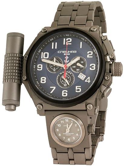 Infantería de Marina de ruso reloj de titanio Cronógrafo Militar Elite unidad de fuerzas especiales - a relojes para los hombres de verdad. Ejército reloj.