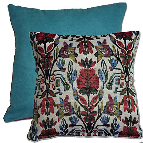 tamarind-bay-18-in-luxury-tapestry-double-sided-throw-pillow-cushion-cover-with-floral-design-and-li