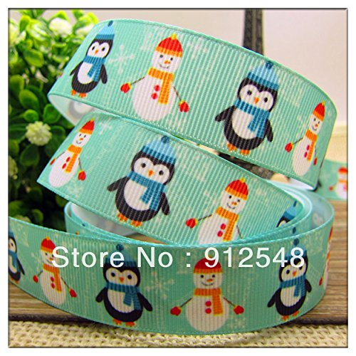 7/8' Lapel Pin (FunnyCraft 10 Yards 7/8'' (22Mm) Christmas Baby Penguin Printed Grosgrain Ribbon Polyester Cartoon Ribbon Haribow Accessory Gift Pack)