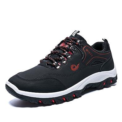 a4ee4a74051e Qianliuk Herren Casual Schuhe Herbst Winter Schuhe Atmungsaktive Weiche  Schuhe Schnürsenkel Outdoor Wanderschuhe