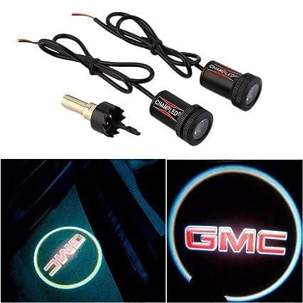 1792bd7b7ca CHAMPLED® For GMC Laser Projector Logo Illuminated Emblem Under Door Step  courtesy Light Lighting symbol