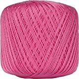 Crochet Thread - Size 10 - Color 35 - HOT PINK - 2 Sizes - 27 Colors Available