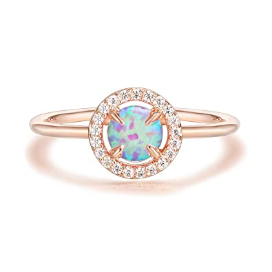 Pavoi 14k Gold Plated Rose Gold Ring Opal Ring Rings For Women
