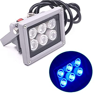 Amazon.com: Lámpara UV de 6 LED para curar LOCA UV pegamento ...