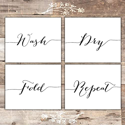 diy wall decor with pictures.htm amazon com wash dry fold repeat laundry room wall decor art  amazon com wash dry fold repeat