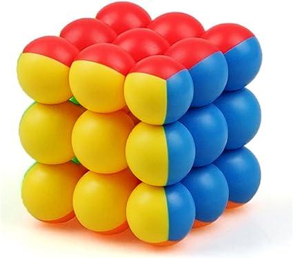 Kiditos Original YJ Round Ball 3x3x3 Magic Cube 3 Layer Stickerless Smooth Professional Speed Cubes