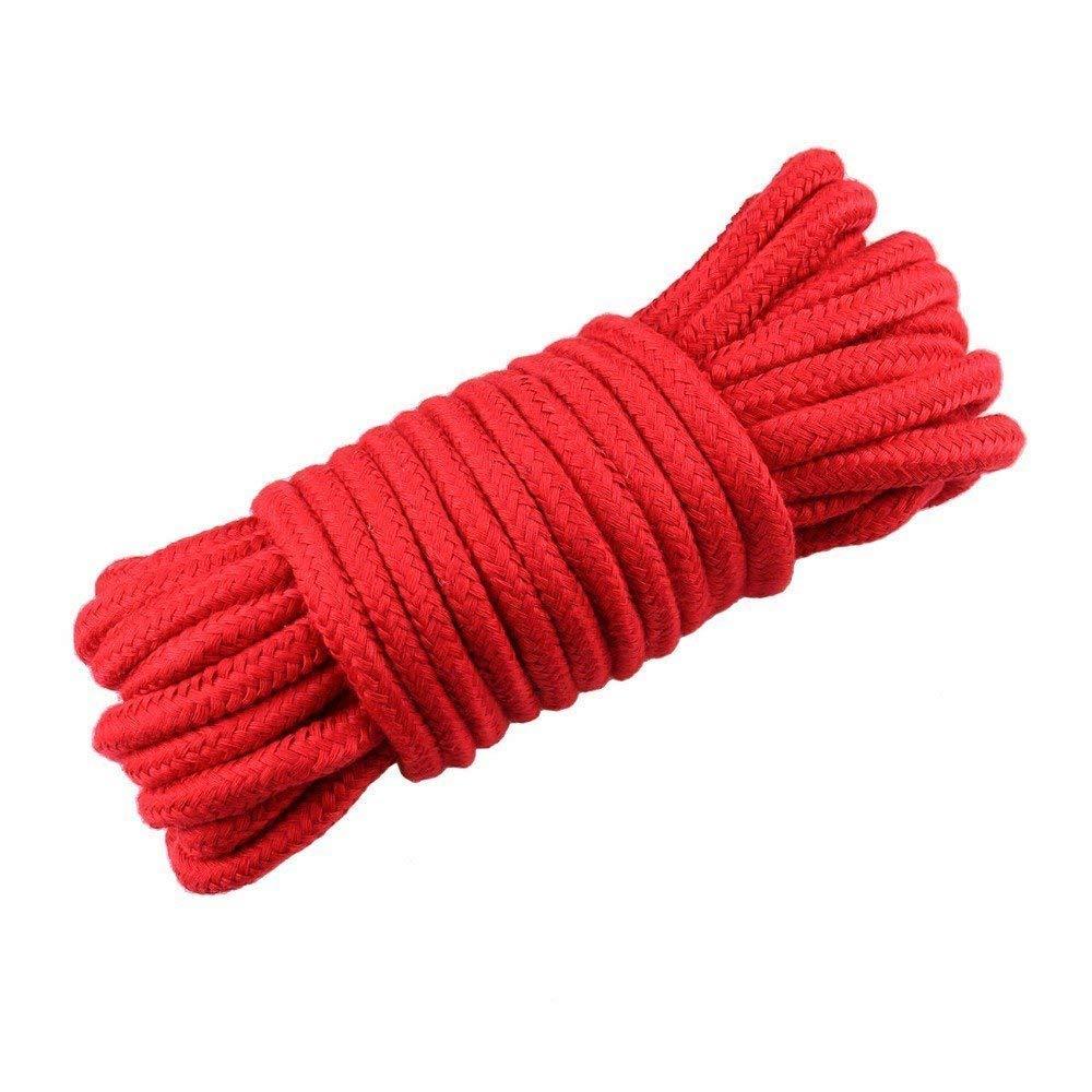 10 m Cuerda de algod/ón correa larga fuerte cuerda suave lavable multifuncional 1 paquete de 32 pies multiusos rosa