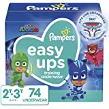Pampers Easy Ups Training Pants Boys and Girls, Size 4 (2T-3T), 74 Count, Super Pack
