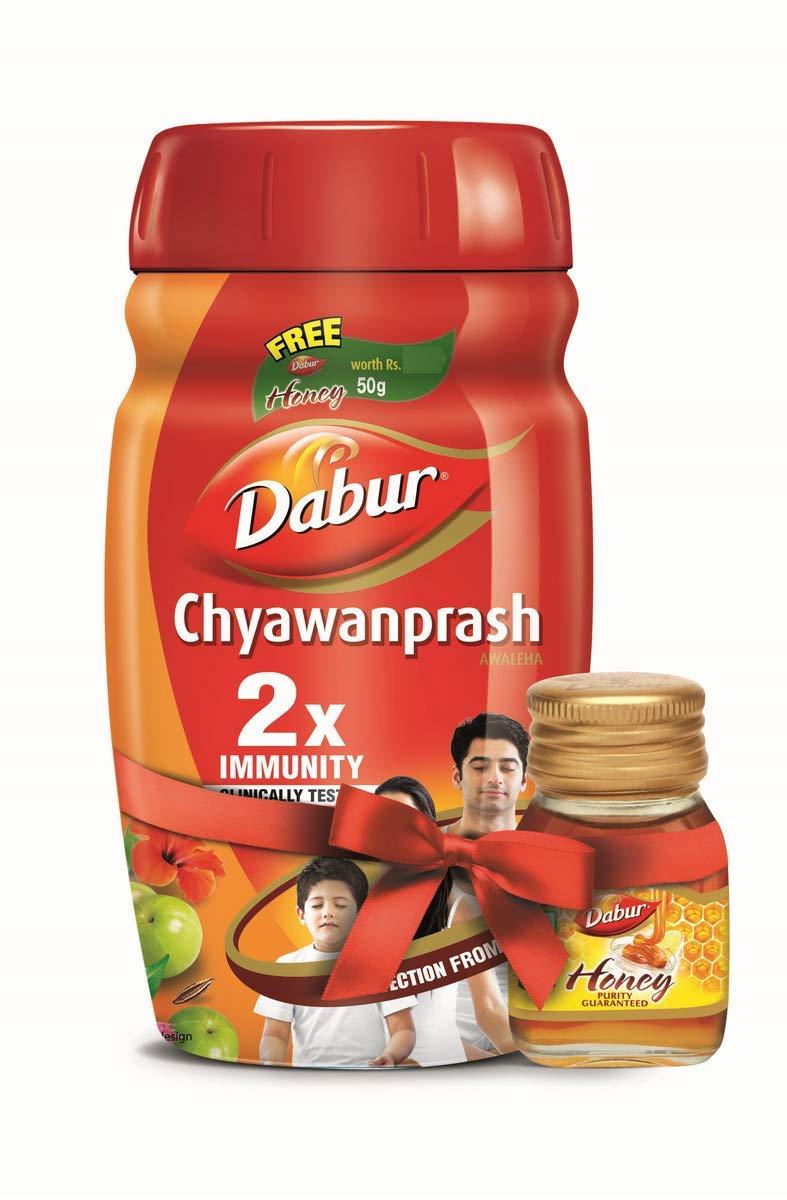 Dabur Chyawanprash 2X Immunity - 1kg with Dabur Honey - 50g Free