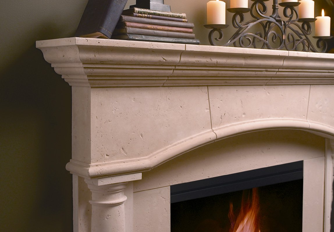 amazon com kington thin cast stone adustable fireplace mantel kit