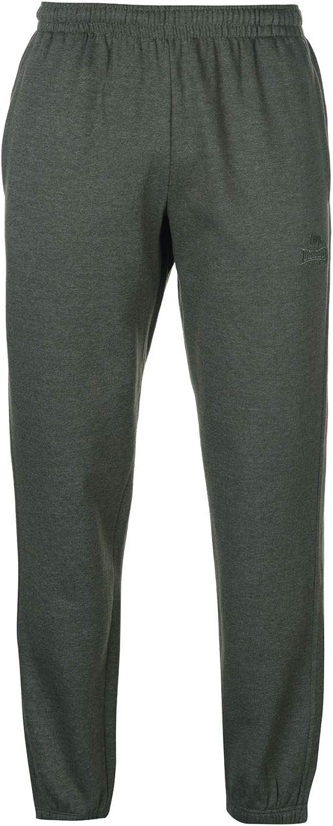 Lonsdale Pantalones de Forro Polar con Dobladillo en puños para ...