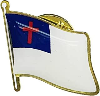 product image for Set of 3 Christian Single Waving Flag Lapel Pin - Proudly Made in The USA