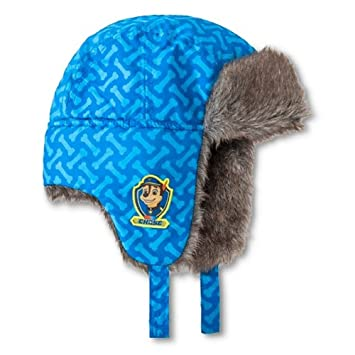 f6eeccc493b Amazon.com   Paw Patrol Toddler Boys Trapper Hat and Mittens Set Blue   Baby