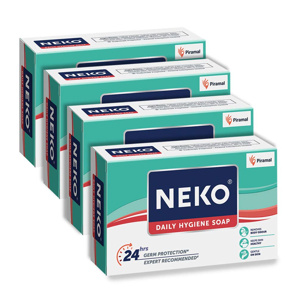 Neko Daily Hygiene Soap, Green, 100 g (Pack of 4)