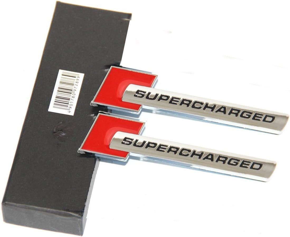 Yoaoo-oem/® 2pcs 3d OEM Supercharged Badge Emblem Stickers for Audi A3 A4 A5 A6 Q3 Q5 Q7 S4 S6 Tt