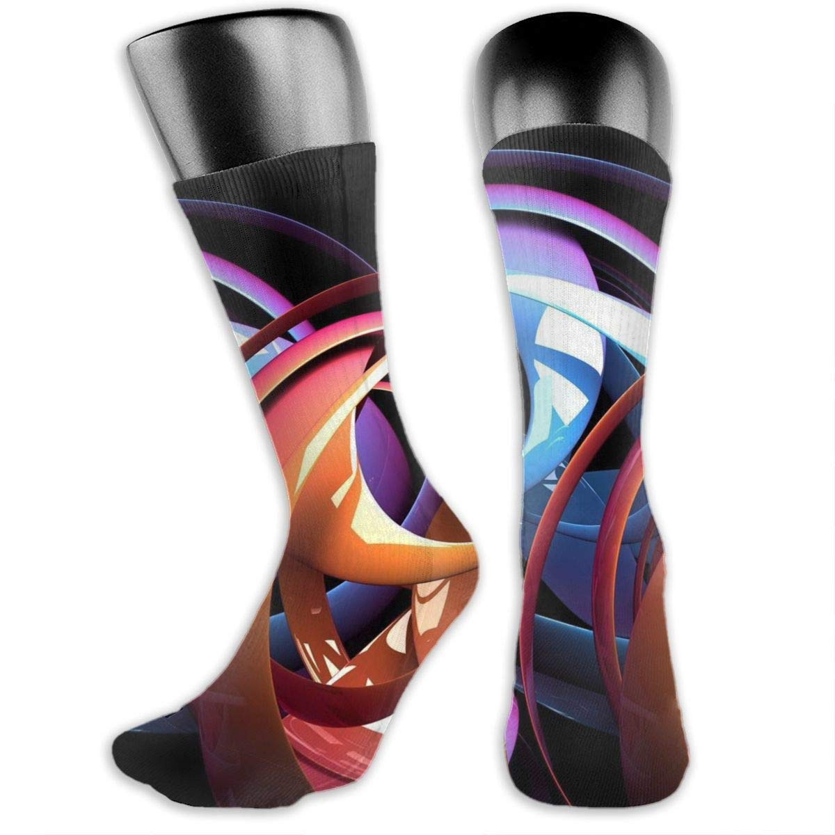 OLGCZM Best Abstract Design Men Womens Thin High Ankle Casual Socks Fit Outdoor Hiking Trail