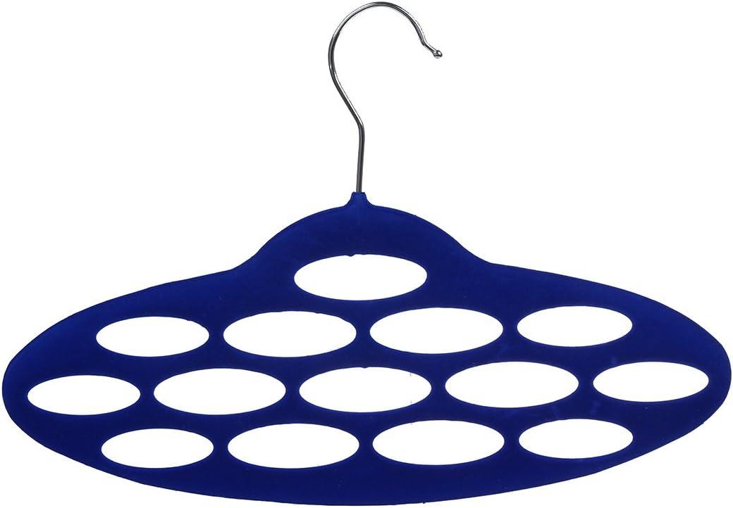 WOVELOT High-grade flocking porous oval necktie scarf rack holder//belt hanger random color Free Cable Tie