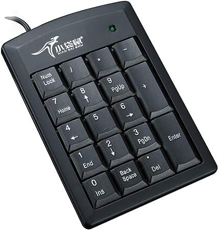Xiao Dai Shu USB Teclado numérico, Mini Teclado numérico para portátil ordenador de sobremesa PC, Full size 19 clave, grandes letras de impresión, ...