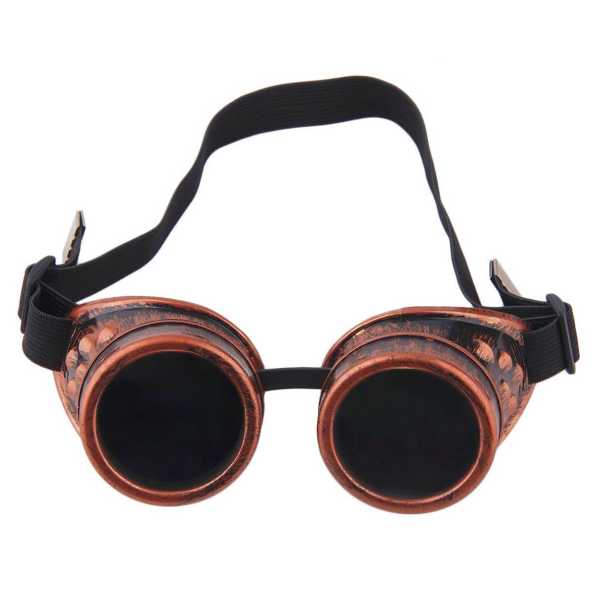 Klassische Steampunk Sonnenbrille Vintage Große Runde Gothic Nette ...