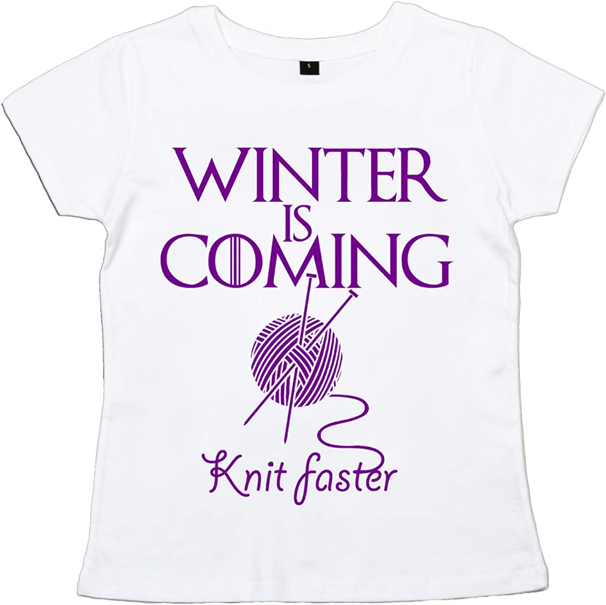 IIE, Winter is Coming Knit Faster, GOT Knitter, Camiseta para ...