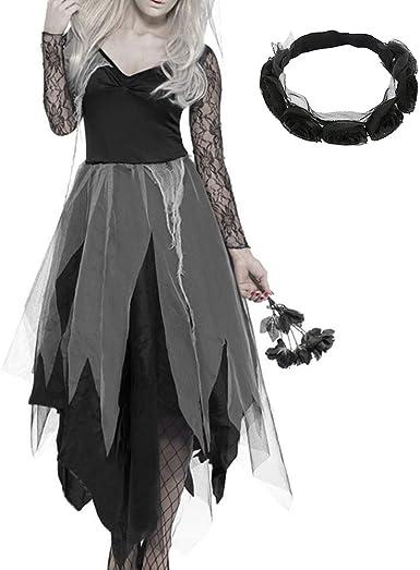 LoveStory_eu Disfraz De Novia Cadaver Traje Vampiro Mujer Fantasma ...