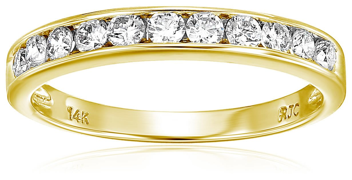 Vir Jewels 1/2 cttw Classic Diamond Wedding Band in 14K Yellow Gold In Size 7.5