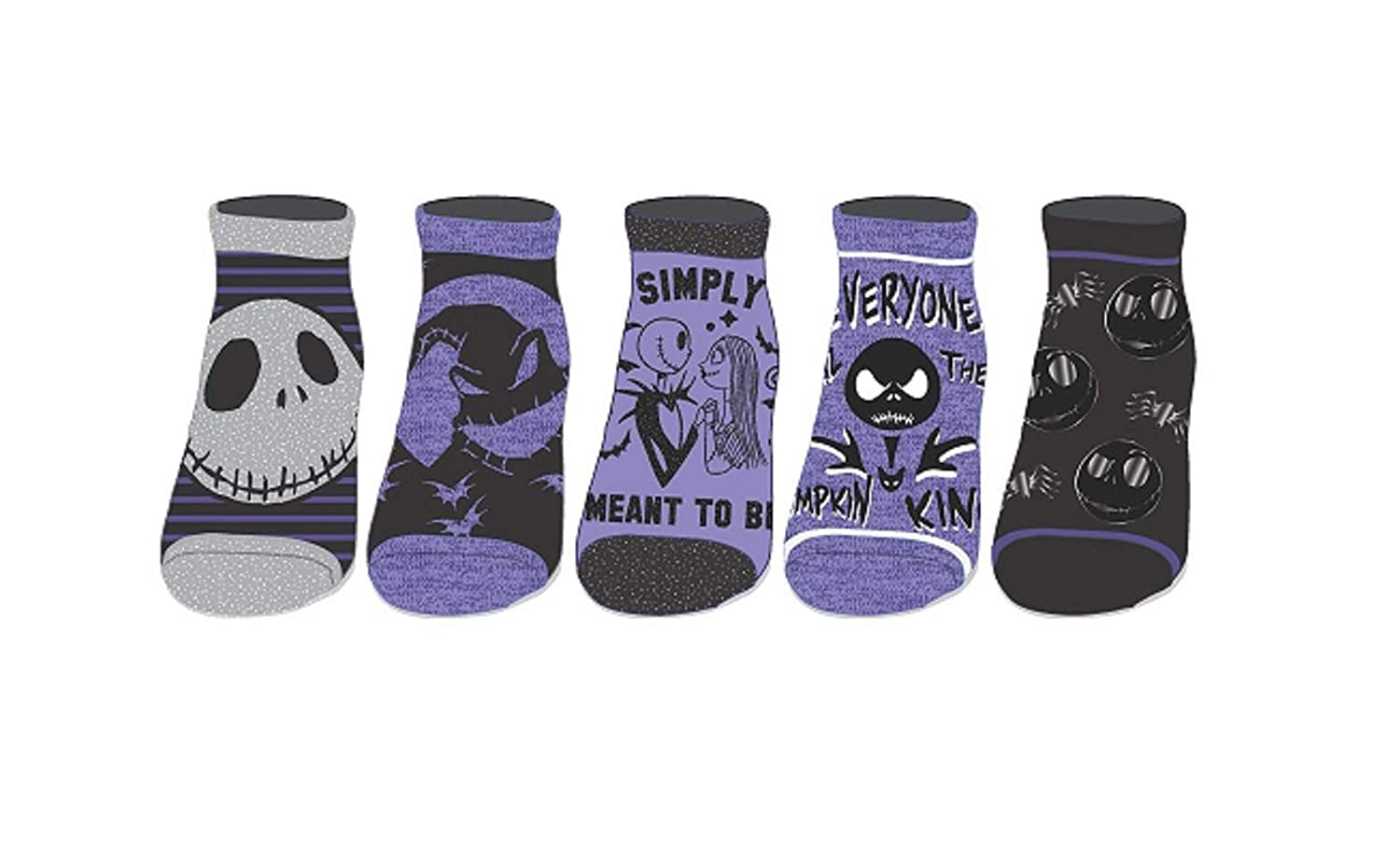 Ladie's The Nightmare Before Christmas 5-Pack Ankle Socks