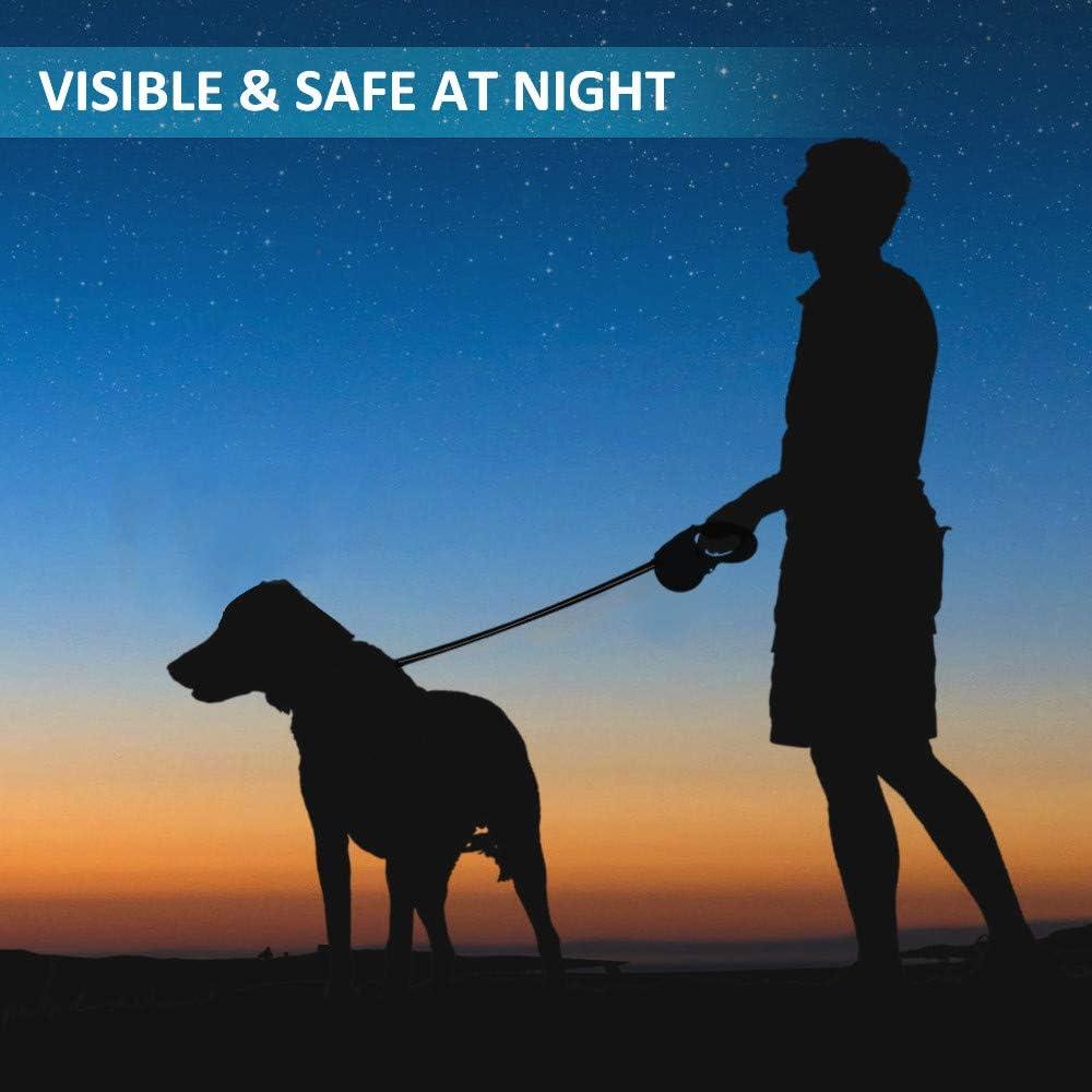 5 m ausziehbar verhedderungsfrei einfache EIN-Knopf-Bremse /& Lock-Sicherheitssystem einziehbar OCSOSO/® Reflektierende Hundeleine robuste Hundeleine f/ür mittelgro/ße und gro/ße Hunde bis zu 180 kg