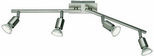123 opinioni per Reality Leuchten R82944107- Sistema di 4 faretti LED, in nichel opaco, include 4
