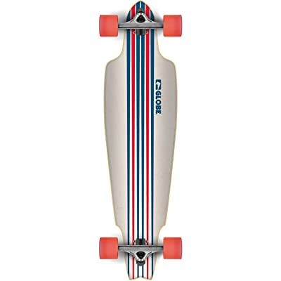 "Globe Prowler white/blue/red 10"" x 38"" Complete Cruiser"