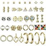 UUS 20 Pairs Multiple Stud Earrings for Women Girls Cute Big Hoop Elegant Earrings Set Vintage Jewelry Set Bohemian Summer Journey Birthday Gift