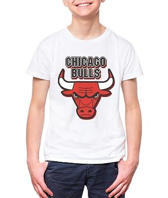0727279b40b3 NUTSPIN Chicago Bulls Printed Tshirt for Boys 14-15 Years  Amazon.in ...